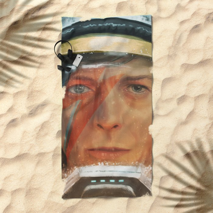Bowie - The Man Who Fell to Earth Beach Towel