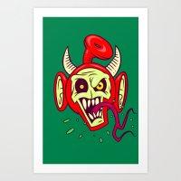 evil dead Art Prints featuring Evil Dead Po by Artistic Dyslexia