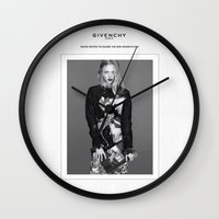 givenchy Wall Clocks featuring Givenchy Paris by CHESSOrdinary