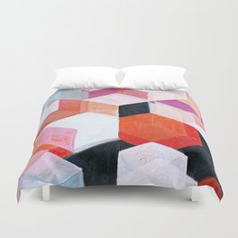 White Paint and Some Colors Duvet Cover