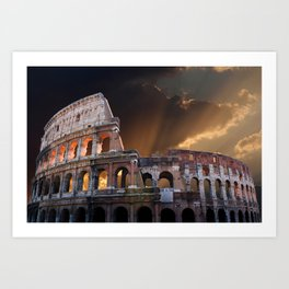 The Coliseum of Ancient Rome Art Print