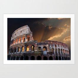 The Coliseum of Ancient Rome Art Print
