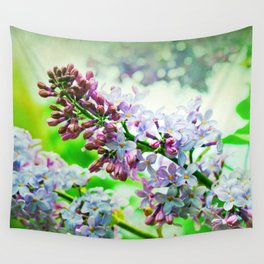 Lilacs In The Green Wall Tapestry