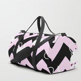 pink teapot chevron Duffle Bag