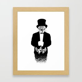 Cat in the Hat Framed Art Print