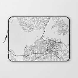 Auckland White Map Laptop Sleeve