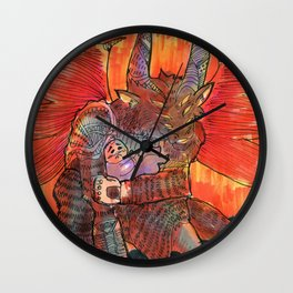 baal goetia demon Wall Clock
