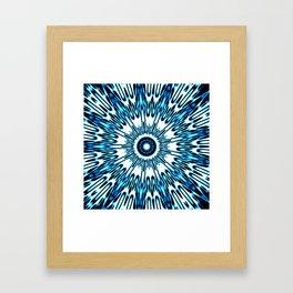 Blue White Black Explosion Framed Art Print