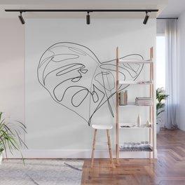 """Botanical Collection"" -  Monstera Deliciosa Print Wall Mural"