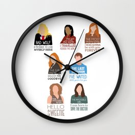 Doctor Who | Companions (alternate version) Wall Clock