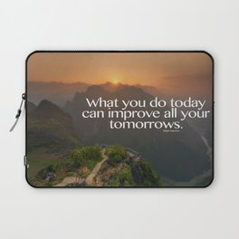 Improve Your Tomorrows Laptop Sleeve