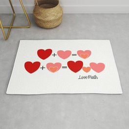 Love math, cute way to announce a pregnancy to your partner, funny baby reveal Rug