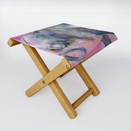 Pinkish Folding Stool