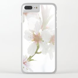 Blossom of the almond tree Clear iPhone Case