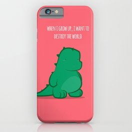 When i grow up iPhone Case