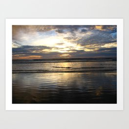 Pismo Beach Sunset Art Print