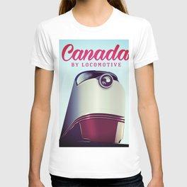 Canada 1950s travel locomotive poster T-shirt