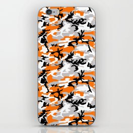 Orange Camouflage Pattern iPhone Skin