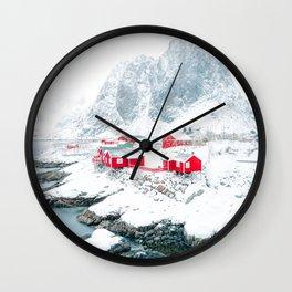 Amazing Hamnoy Lofoten Islands Norway Wall Clock