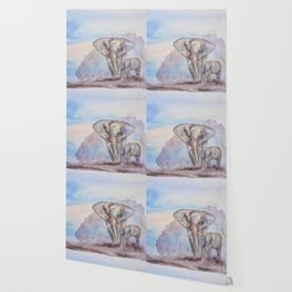 Elephant Mother Wallpaper