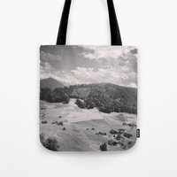 switzerland Tote Bags featuring Switzerland BW by Heather Hartley