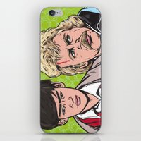 caleb troy iPhone & iPod Skins featuring Troy and Rowsdower by turddemon