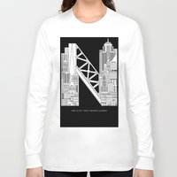 nyc Long Sleeve T-shirts featuring NYC  by Robert Farkas