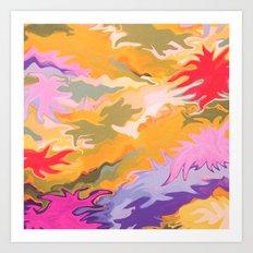 Desert Camo Art Print