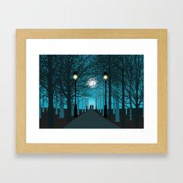 Park by night Framed Art Print