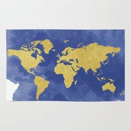Gold navy world map elegant gold foil nursery wall tapestry by gold navy world map elegant gold foil nursery rug gumiabroncs Images
