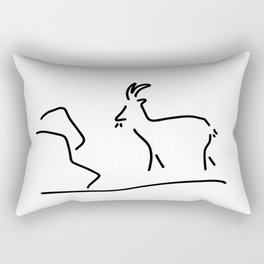 goat Capricorn Rectangular Pillow