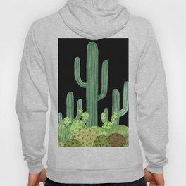 Night Desert Prickly Cactus Bunch Hoody