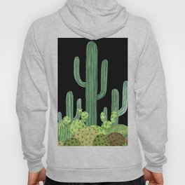 Night Desert Prickly Cactus Bunch Hoody