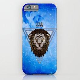 Zodiac sign lion iPhone Case