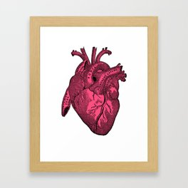hot pink heart Framed Art Print