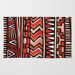Aztec lino print Rug