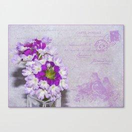 Purple Verbena Canvas Print