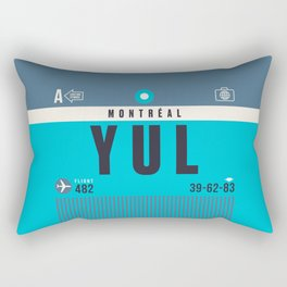 Baggage Tag A - YUL Montreal Canada Rectangular Pillow