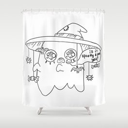 Impatient Ghosty Shower Curtain