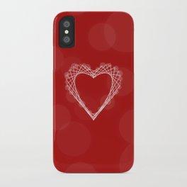 Spirograph Heart iPhone Case