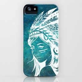 Moon Child Goddess Bohemian Girl iPhone Case