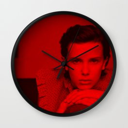 Millie Bobby Brown - Celebrity (Photographic Art) Wall Clock