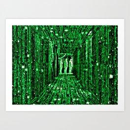 Free The Mind Neo Matrix Art Print