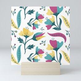 Detailed Summer Floral Mini Art Print