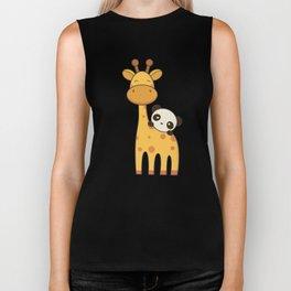 Cute and Kawaii Giraffe and Panda Biker Tank