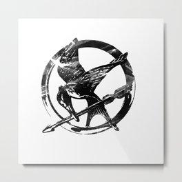 HUNGER GAMES PIN Metal Print