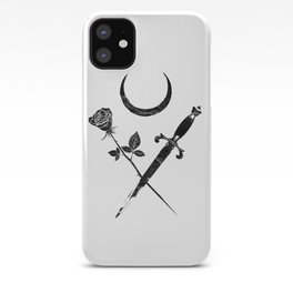 Occult Moon Rose Dagger Gothic Witch Esoteric Sacred Tarot design iPhone Case