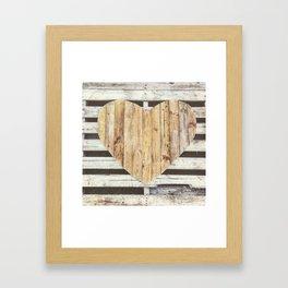 Wooden Heart Framed Art Print