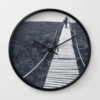 adventure Wall Clocks featuring Adventure by Light Wanderer
