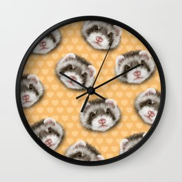 angry ferret Wall Clock